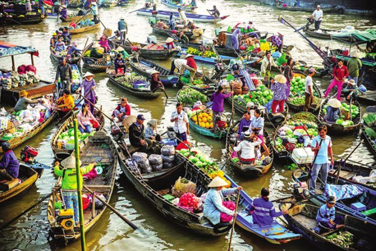 mekong delta - best places to visit Vietnam in January