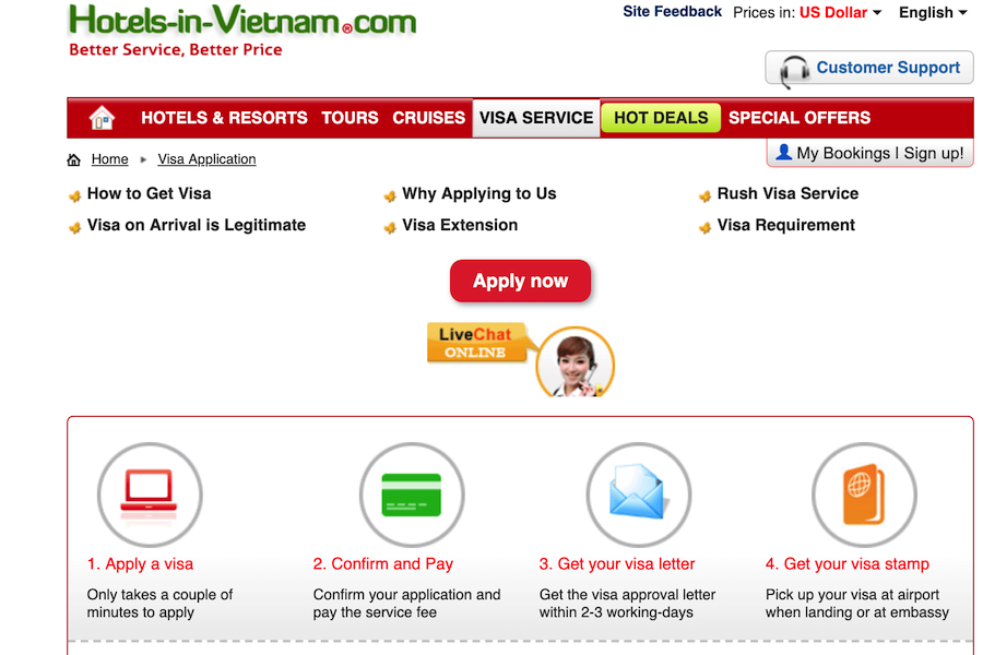 Travelers have to know some of best websites Visa-On-Arrival Vietnam. Which is the best choice?
